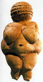 Venus of Willendorf, ancient stone sculpture
